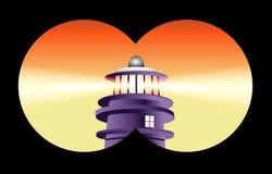 latarnia morska obuoczny widok Zdjęcie Royalty Free