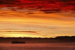 Latarnia morska ogień Obrazy Royalty Free