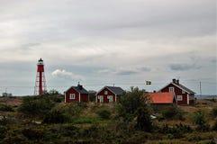 Latarnia morska opiekunu ` s siedziba zdjęcie stock