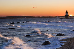 latarnia morska orient punkt Zdjęcie Stock