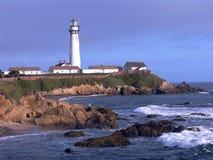 latarnia morska pokojowej brzegowa Fotografia Royalty Free