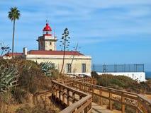 Latarnia morska Ponta da Piedade w Lagos w Portugalia zdjęcia stock
