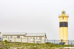 Latarnia morska przy Groenriviermond na ponurym dniu Fotografia Royalty Free