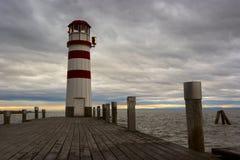 Latarnia morska przy Jeziornym Neusiedl Obraz Royalty Free