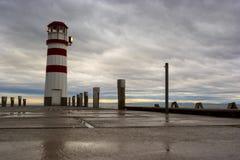 Latarnia morska przy Jeziornym Neusiedl Fotografia Stock