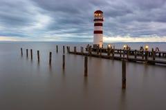 Latarnia morska przy Jeziornym Neusiedl Fotografia Royalty Free