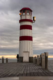 Latarnia morska przy Jeziornym Neusiedl Obraz Stock