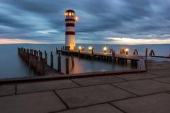 Latarnia morska przy Jeziornym Neusiedl Zdjęcia Stock