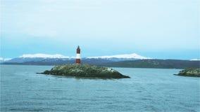 Latarnia morska Przy końcówką świat W Ushuaia, Beagle kanał, Argentyna zbiory wideo