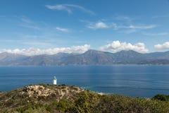 Latarnia morska przy Mortella blisko St Florent w Corsica Obraz Royalty Free