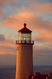Latarnia morska przy półmrokiem Zdjęcie Stock
