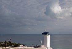 Latarnia morska przy Puerto Juarez Cancun Meksyk zdjęcia stock