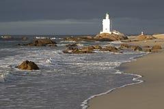 Latarnia morska przy St Helena zatoką zdjęcia royalty free
