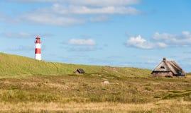 Latarnia morska przy Sylt w Niemcy Fotografia Royalty Free