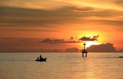 Latarnia morska przy zmierzchem Fotografia Royalty Free