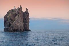 Latarnia morska przy zmierzchem Zdjęcia Stock