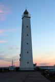 Latarnia morska przy zmierzchem w Kronstadt Zdjęcia Stock