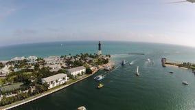 Latarnia morska punkt, Hillsboro wpust Floryda Obraz Royalty Free