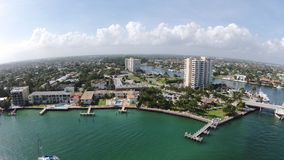 Latarnia morska punkt, Hillsboro wpusta Floryda Drawbridge Zdjęcie Royalty Free