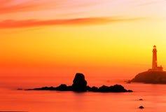 latarnia morska punktu gołębi słońca Zdjęcie Royalty Free