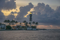 Latarnia morska punktu wschód słońca obrazy royalty free