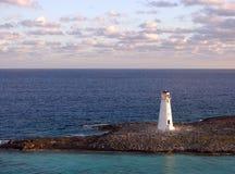 latarnia morska rano Obrazy Royalty Free