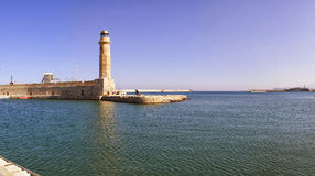 latarnia morska Rethymnon fotografia royalty free