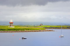 Latarnia morska, Rosses Punkt, Okręg administracyjny Sligo Fotografia Royalty Free