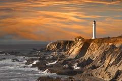latarnia morska słońca Fotografia Stock