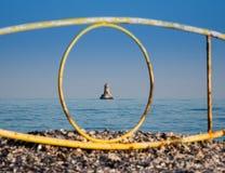 latarnia morska samotna Obrazy Stock