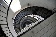 Latarnia morska schody oddolny widok Fotografia Royalty Free