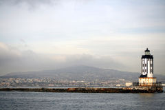 - latarnia morska schronienia w los Obraz Royalty Free