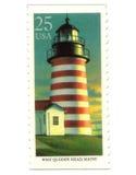 latarnia morska starych znaczków pocztowych usa Fotografia Royalty Free