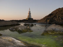 Latarnia morska w Ahtopol Obrazy Royalty Free
