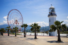 Latarnia morska w Batumi, Gruzja Obraz Royalty Free