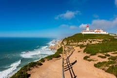 Latarnia morska w Cabo da Roca Portugalia Zdjęcia Stock