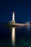 Latarnia morska w Chania, Crete, Grecja Fotografia Royalty Free