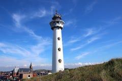 Latarnia morska w Egmond aan zee, holandie fotografia royalty free