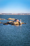 Latarnia morska w Gothenburg archipelagu Obraz Royalty Free