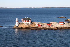 Latarnia morska w Gothenburg archipelagu Zdjęcia Royalty Free