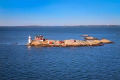 Latarnia morska w Gothenburg archipelagu Zdjęcie Royalty Free