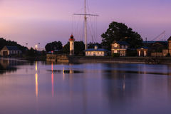 Latarnia morska w Honfleur Obrazy Royalty Free