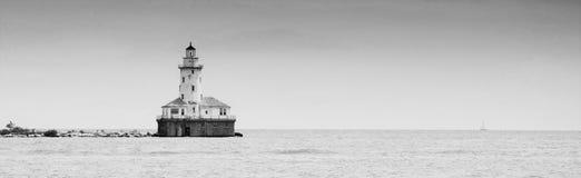 Latarnia morska w jeziorze obrazy royalty free