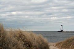 Latarnia morska w Ludington MI Zdjęcie Royalty Free