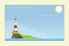 Latarnia morska w morzu ilustracji