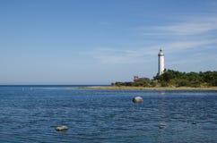 Latarnia morska w morzu bałtyckim Fotografia Stock