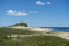 Latarnia morska w Newcastle Australia obraz stock