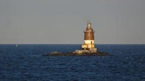 Latarnia morska w Nowy Jork schronieniu Zdjęcia Stock