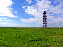 Latarnia morska w polu Fotografia Stock
