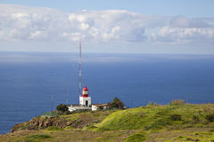 Latarnia morska w Ponta robi Pargo obrazy stock